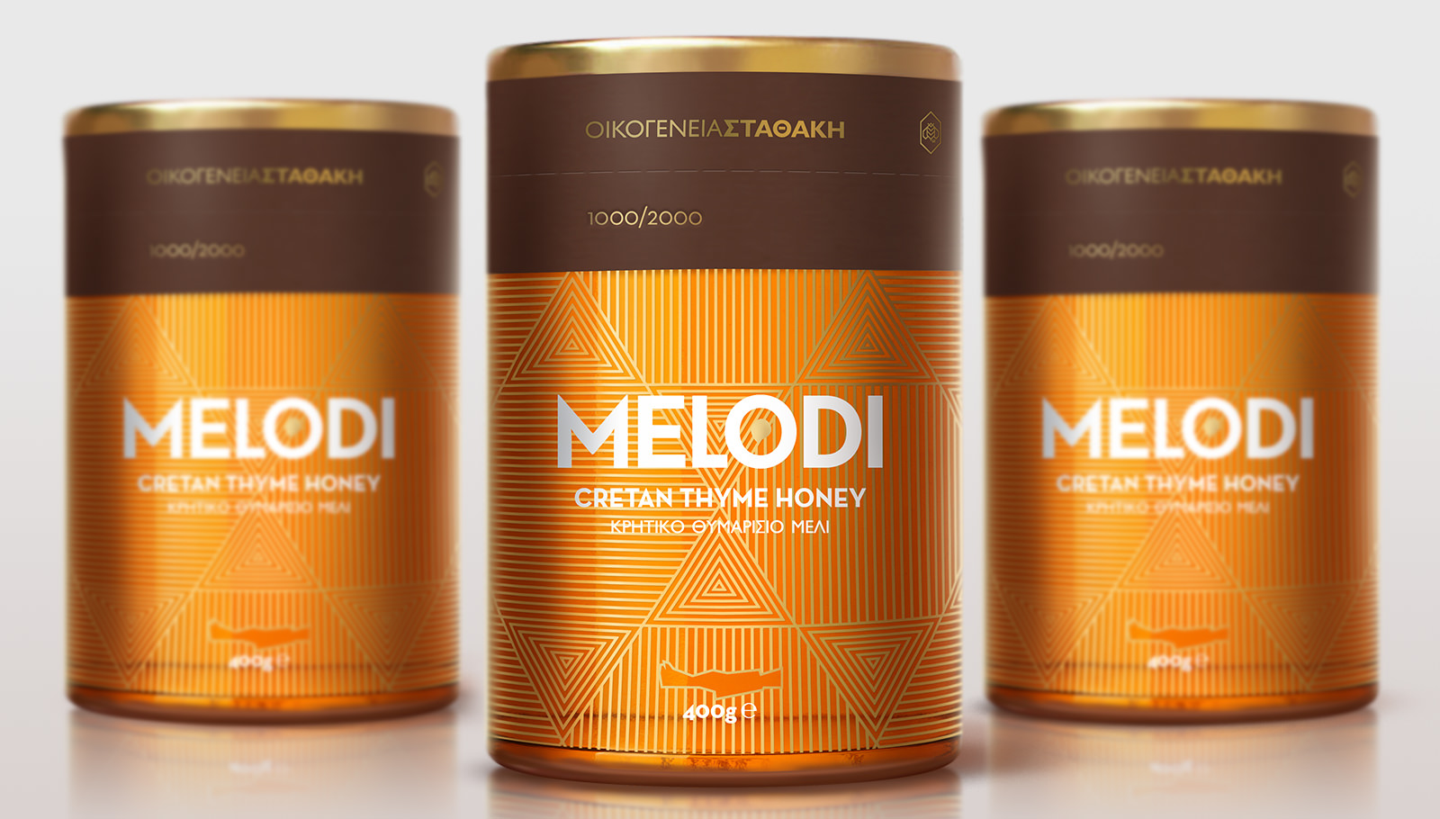 "Stathakis Family – Melodi honey featuring in Dieline's branding and packaging article ""A collection of orange packaging designs"""