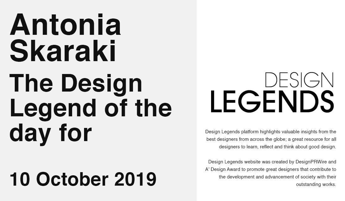 Design Legend of the day 10/10/2019
